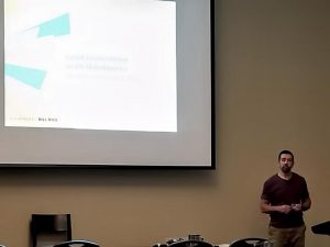 """Bill Rice presenting """"Proven Steps to Make Any WordPress Site a Lead Generation Platform """"."""