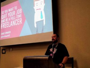 Chris Edwards talking from experience on quitting your job to be a full-time freelancer.