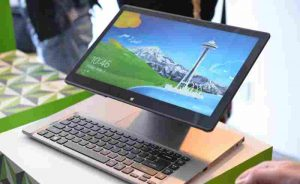 Photo of an Acer Aspire R-7, just like the one that God provided.