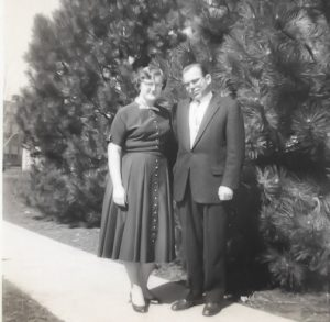 Photo of my mom and dad from about 1958 or 1959.