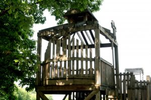 Photo of the treehouse chapek where we we married.
