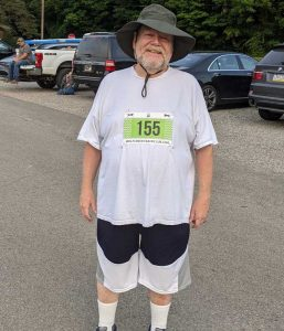 Before I walked in my first 5k on August 7, 2021.